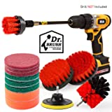Holikme 14Piece Drill Brush Attachments Set,Red