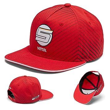 Ferrari 2018 Sebastian Vettel  5 Adult Flatbrim Cap Official Team  Merchandise  Amazon.co.uk  Sports   Outdoors 7a15b0ca41