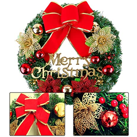 christmas wreath christmas decorations garlands wall decorations door hang garland artificial decorated christmas door decorations wreath