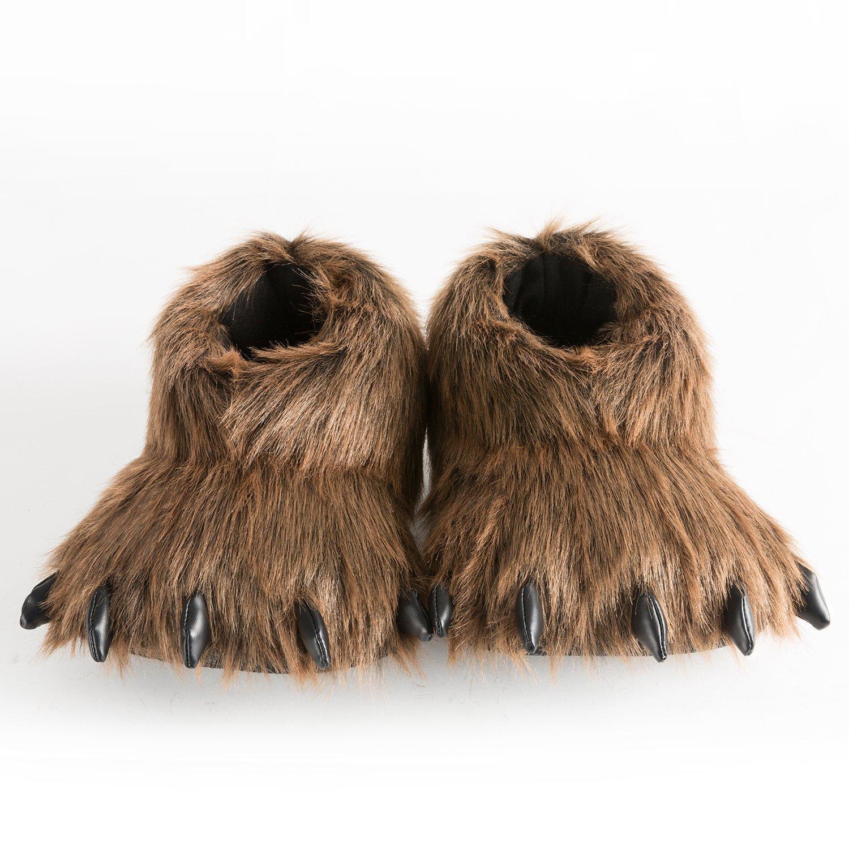 Soft Plush Toy Slippers Animal Slippers 10 Inches Braun Braun Braun 62ae31