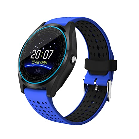 1,22-inch V9 Smart Watch, ultra-delgada táctil reloj Bluetooth con