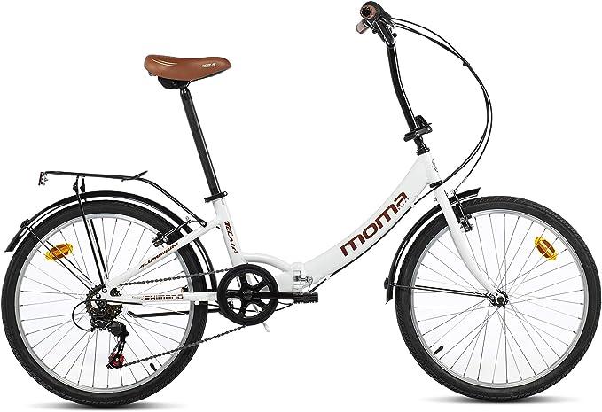 Moma Bikes Bicicleta Plegable Urbana SHIMANO TOP CLASS 24