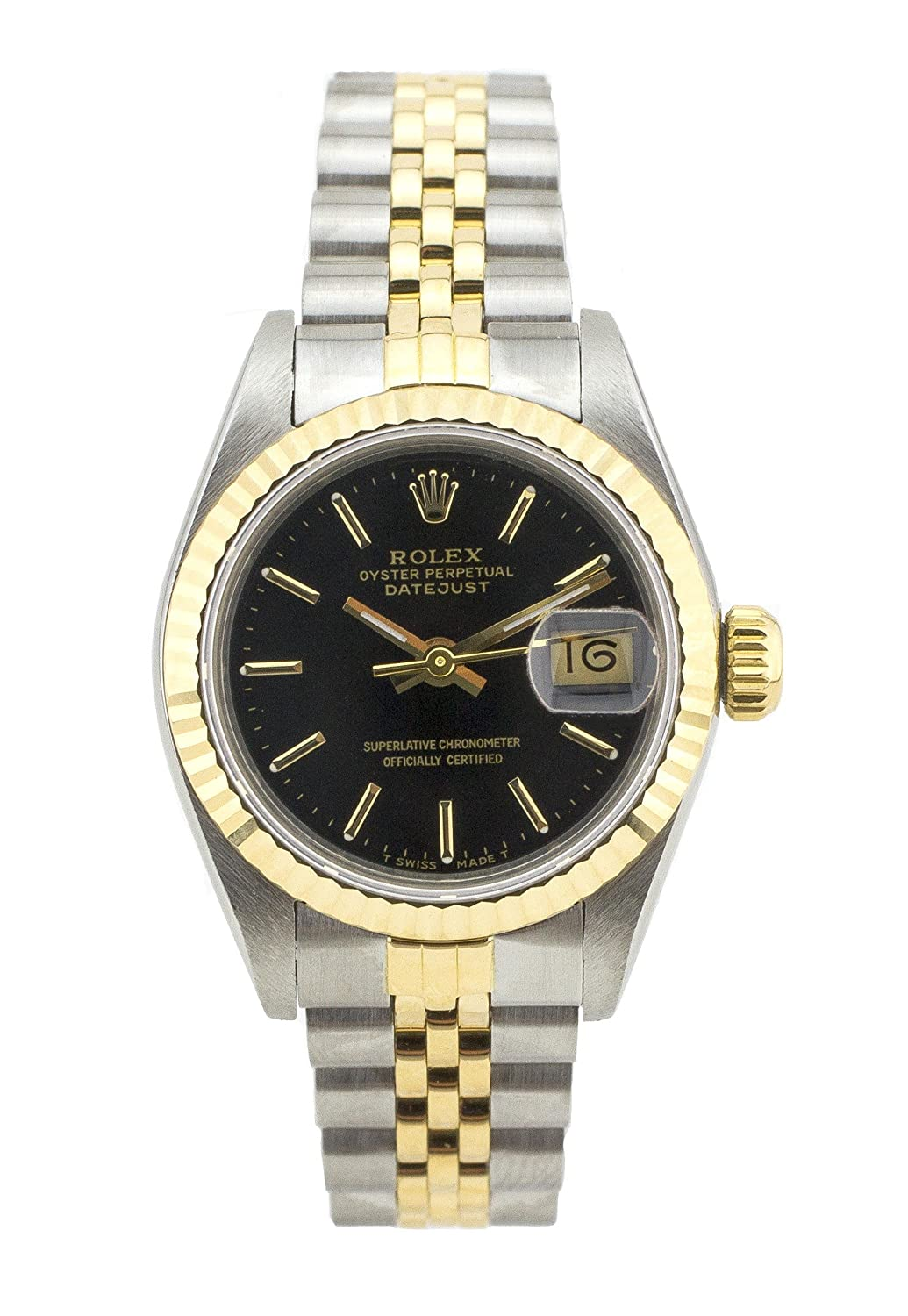 03537f52313de Amazon.com  Rolex Datejust Automatic-self-Wind Female Watch 69173  (Certified Pre-Owned)  Rolex  Watches