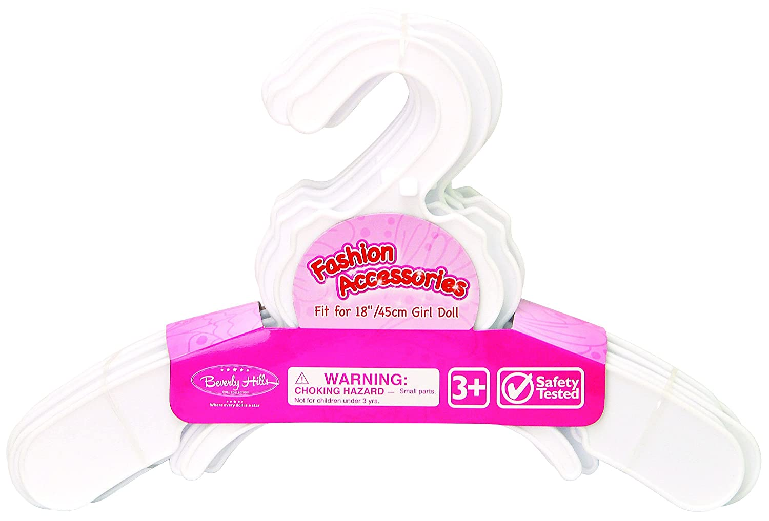 12 Pink Plastic Doll Hangers Fits 18 Inch American Girl Doll Clothes