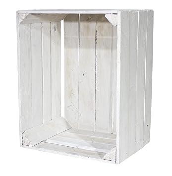 Vintage Möbel 24 GmbH Juego de 4 Vieja Blanca Caja de Madera (50 x 40 x 30 cm: Amazon.es: Hogar