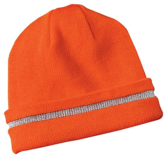 c481e9d51aa Safety Beanie Cap with Reflective Stripe