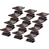 Westinghouse Pagoda II Solar LED Post Cap Light for 4 x 4 Wood Posts (Brown, 12 Pack)