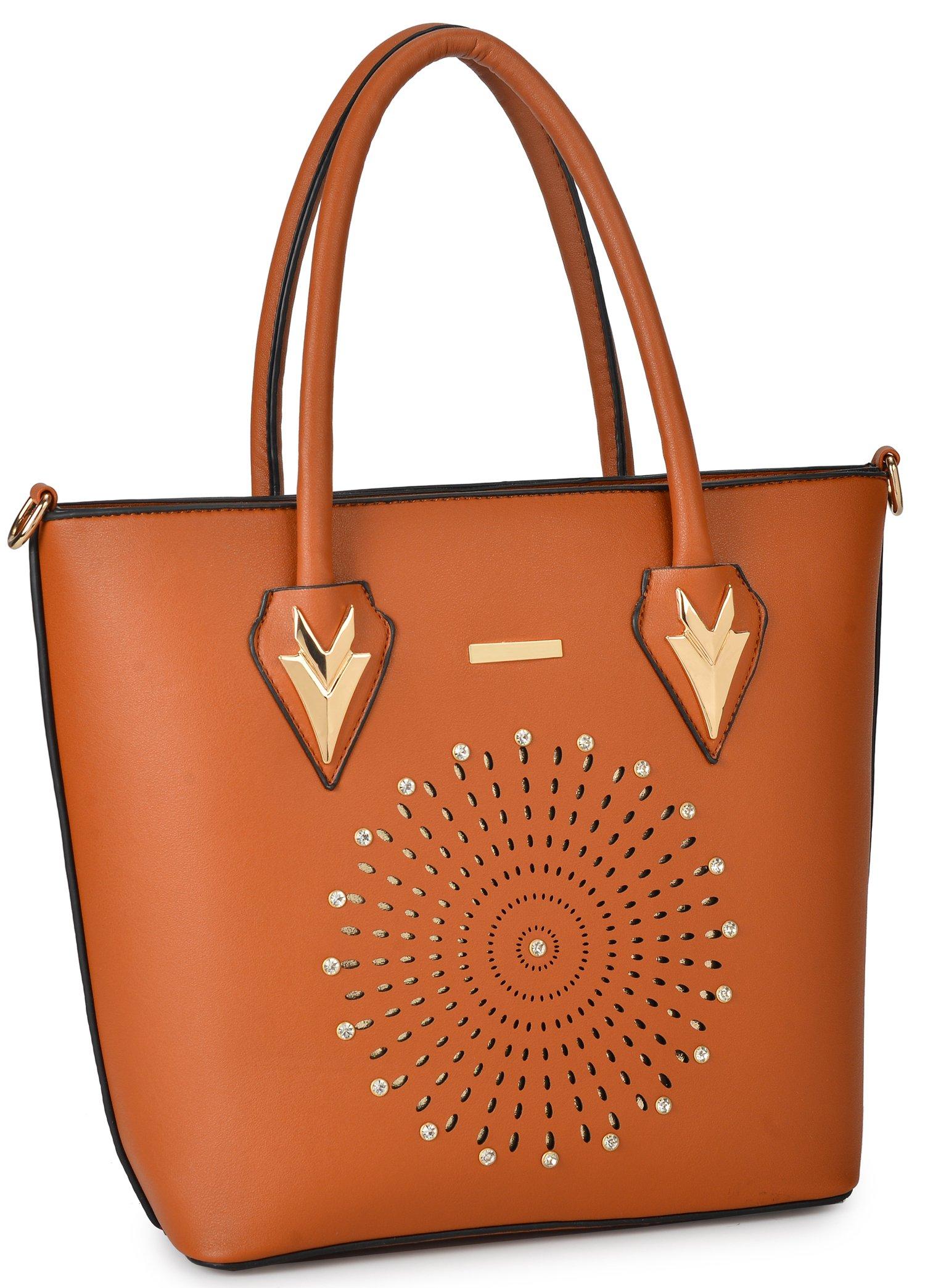 Women Handbag Purse Hobo Faux Leather Messenger Bag Clutch Satchel Bag 3 Piece Gift Set by KasPala (Image #3)