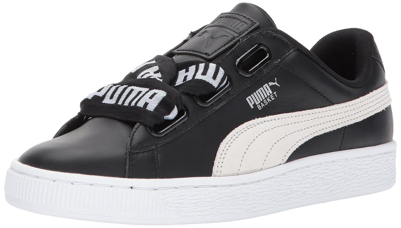PUMA Women's Basket Heart DE Wn Sneaker B01MSZQIT6 6 M US|Puma Black-puma White