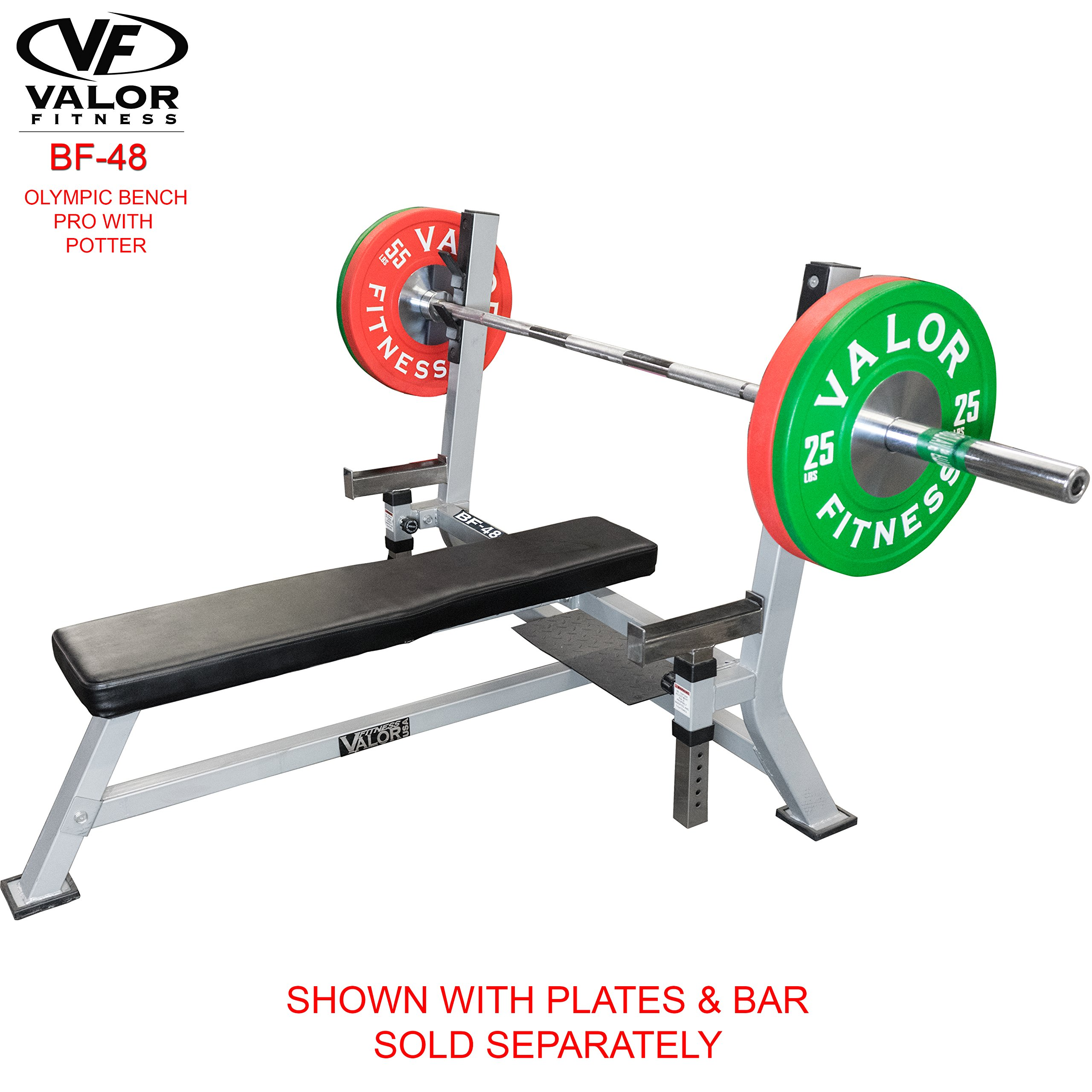 Valor Fitness BF-48 Olympic Bench Pro with Spotter by Valor Fitness (Image #2)