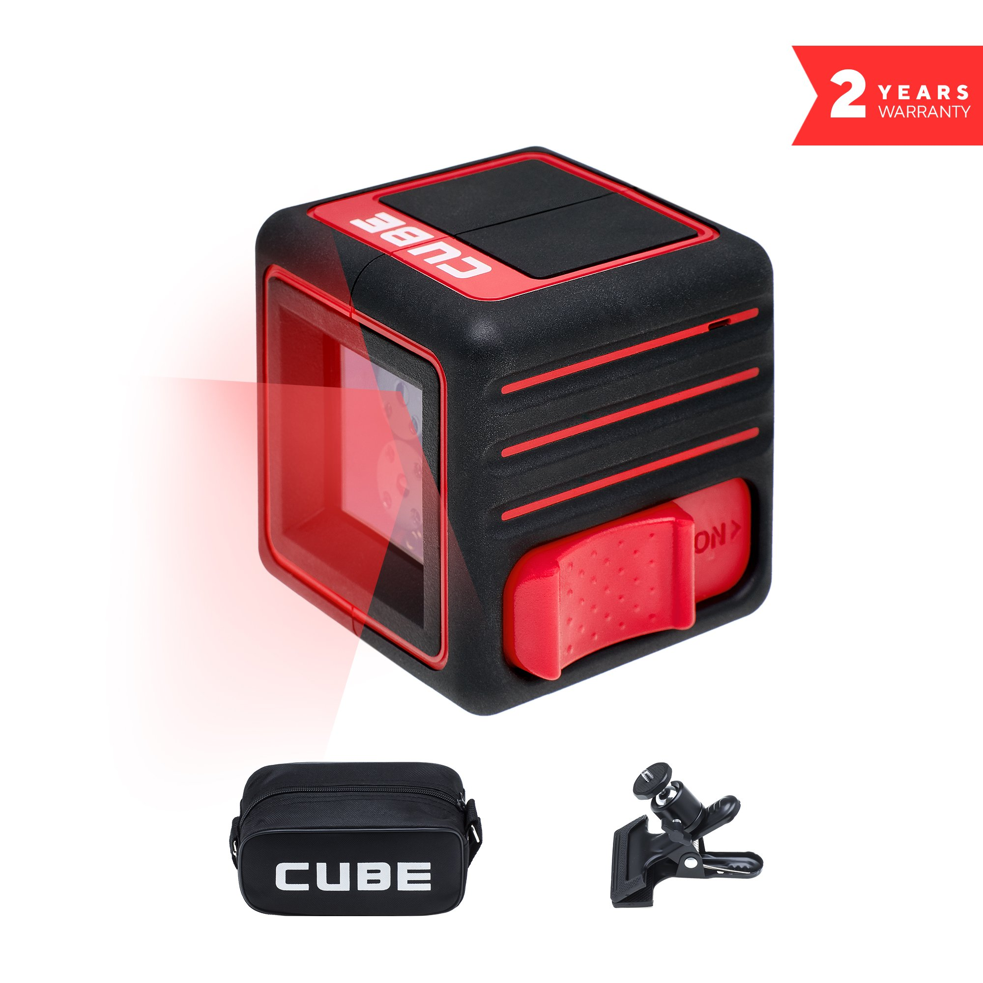 ADA Cube Home Edition, Laser Level, Crossline Self-Leveling Laser Level Kit, 20 Meters (65 feet). Vertical and Horizontal Lines. with Carrying Pouch, Universal Mount, batteries and user manual A00342