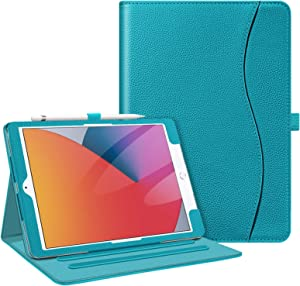 Fintie Case for New iPad 8th Gen (2020) / 7th Generation (2019) 10.2 Inch - [Corner Protection] Multi-Angle Viewing Folio Stand Cover with Pocket, Pencil Holder, Auto Wake/Sleep, Legacy Teal