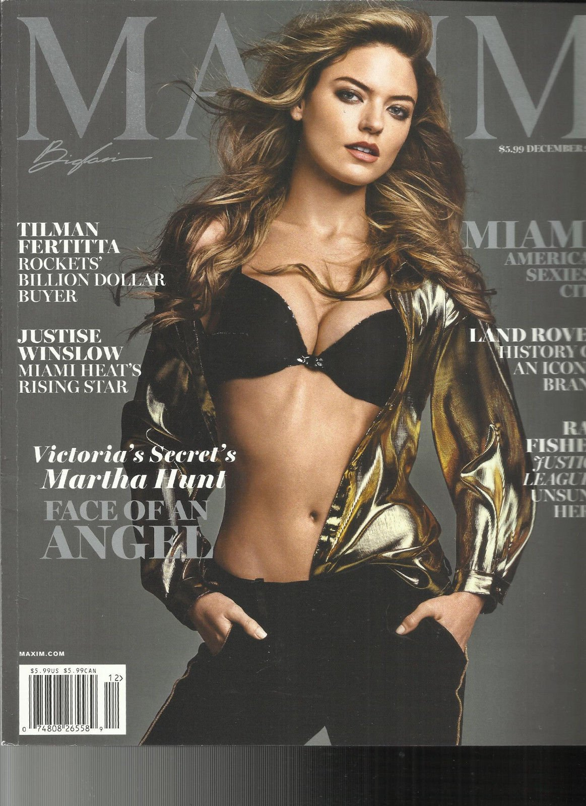 MAXIM MAGAZINE, MIAMI AMERICA'S SEXIEST CITY DECEMBER, 2017 NO. 229