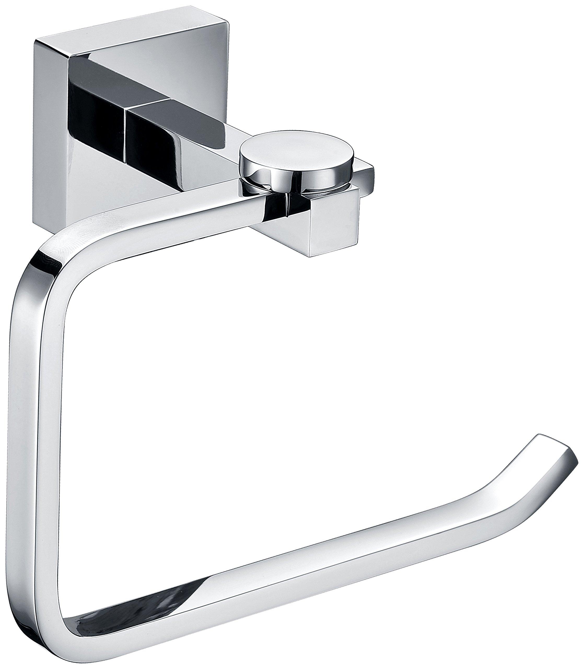 StarFashion Towel Ring, Polished Chrome, Towel Holder, Toilet Paper Holder, Wall Mount Square Open-Arm Towel Holder - Chrome Finish