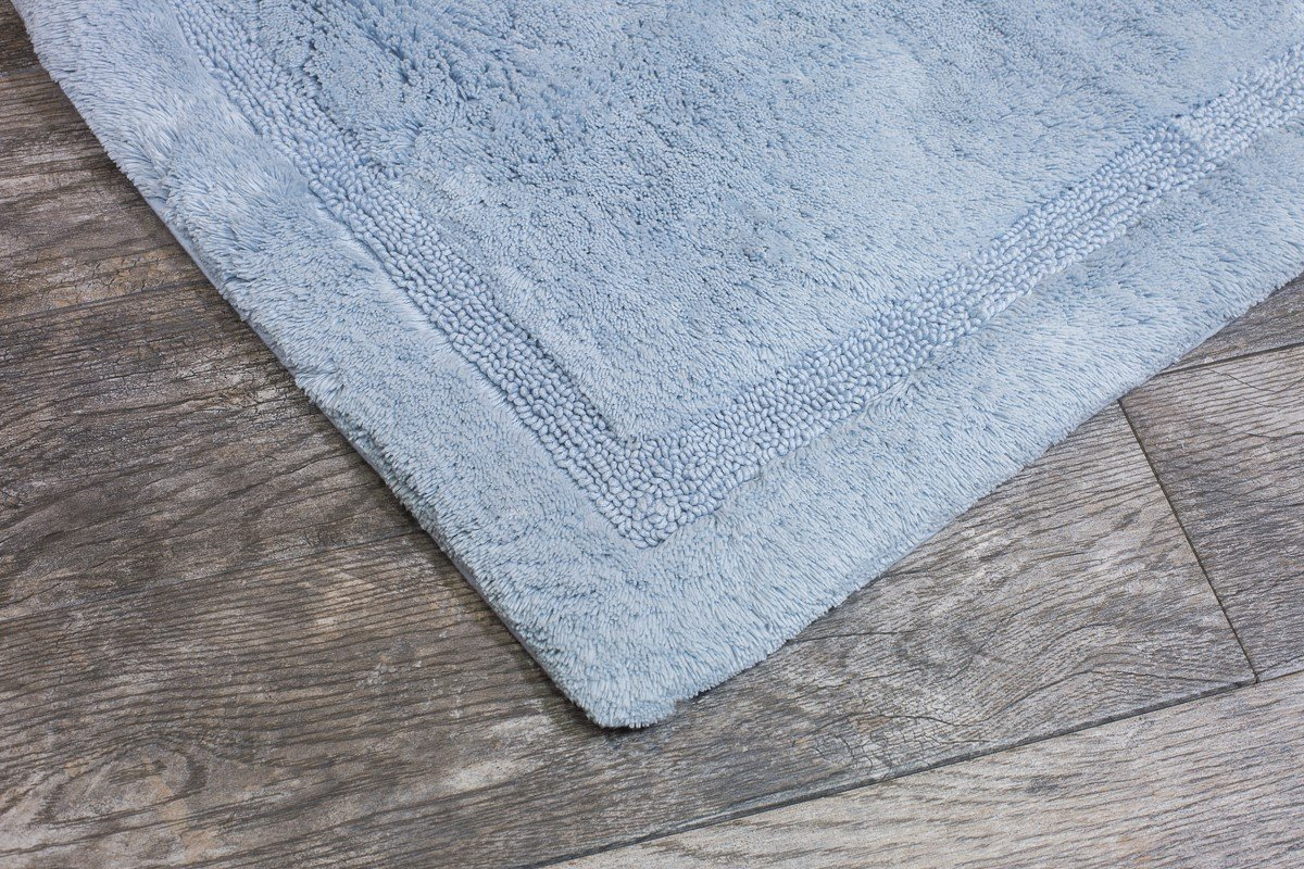 17-Inch by 24-Inch Sage Grund Asheville Series 100/% Organic Cotton Bath Rug