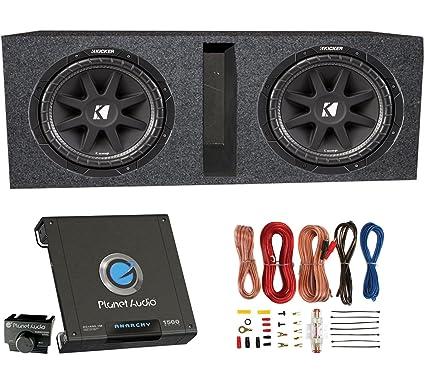 amazon com kicker 2 10c124 600 watt 12 subwoofers ported box rh amazon com