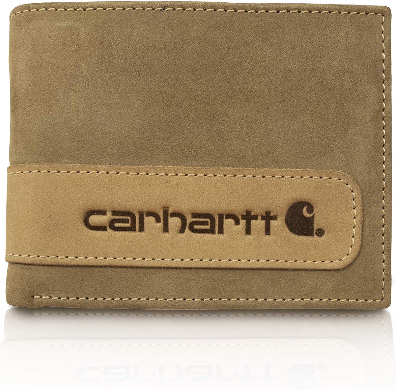 Carhartt Men's Billfold Wallet, two-tone brown, One Size