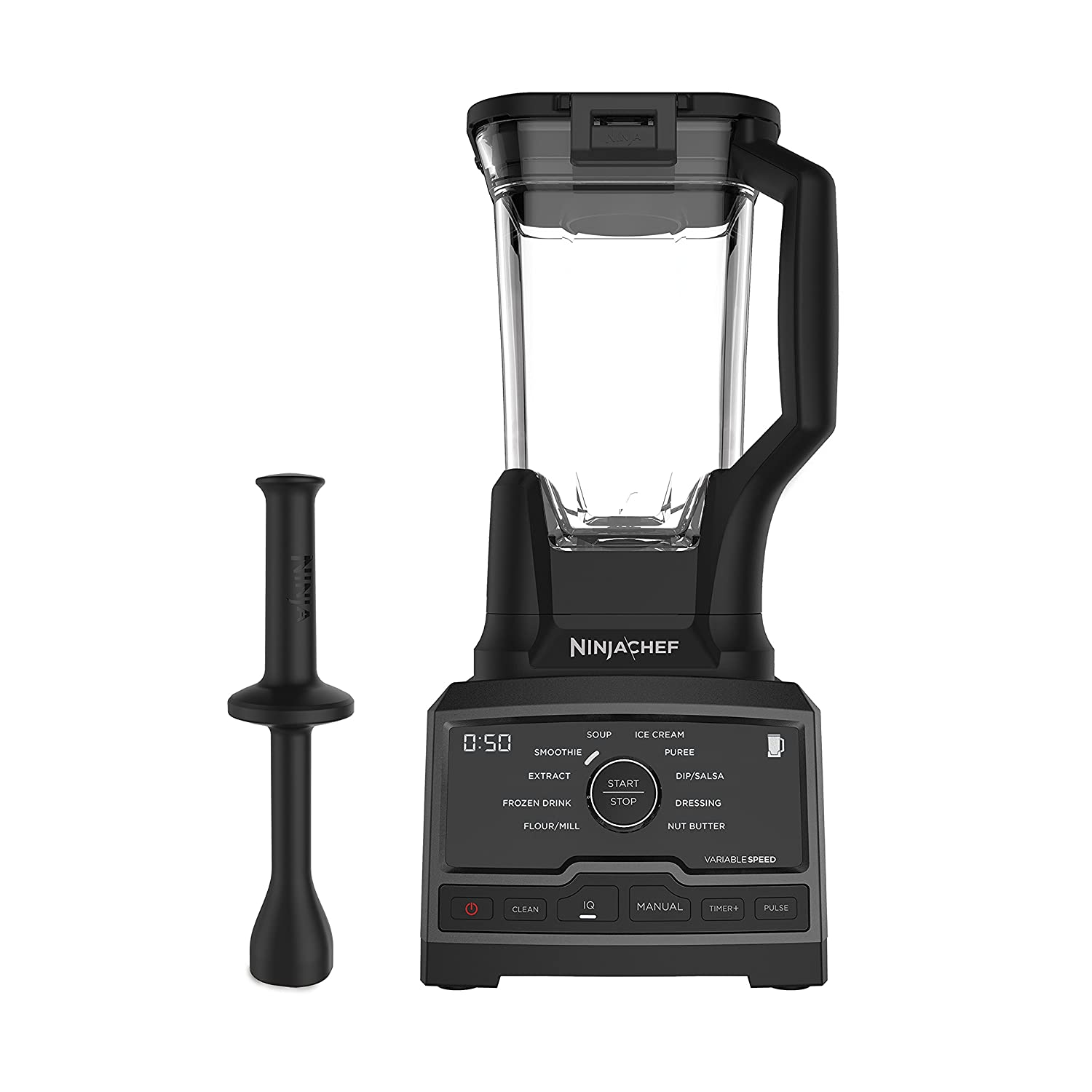 One Size Ninja Chef Countertop Blender with 1500-Watt Auto-iQ Base, 10 Pre-Sets, 10 Speeds, Dishwasher Safe 72-Ounce Pitcher, and 50 Recipe Booklet (CT805)