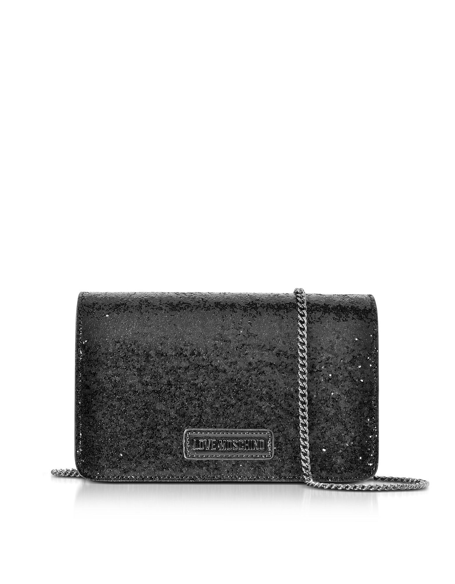 Love Moschino Women's Jc4091pp15ll0000 Black Leather Shoulder Bag
