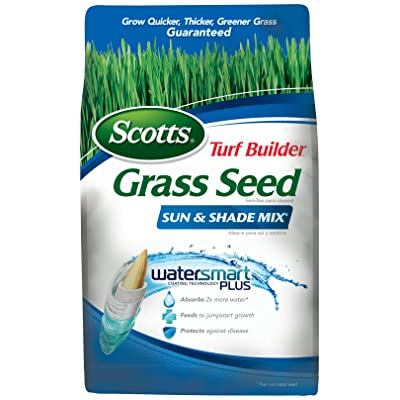 Scotts 18225 Turf Builder Sun and Shade Grass Seed Mix (6 Pack), 3 lb : Garden & Outdoor