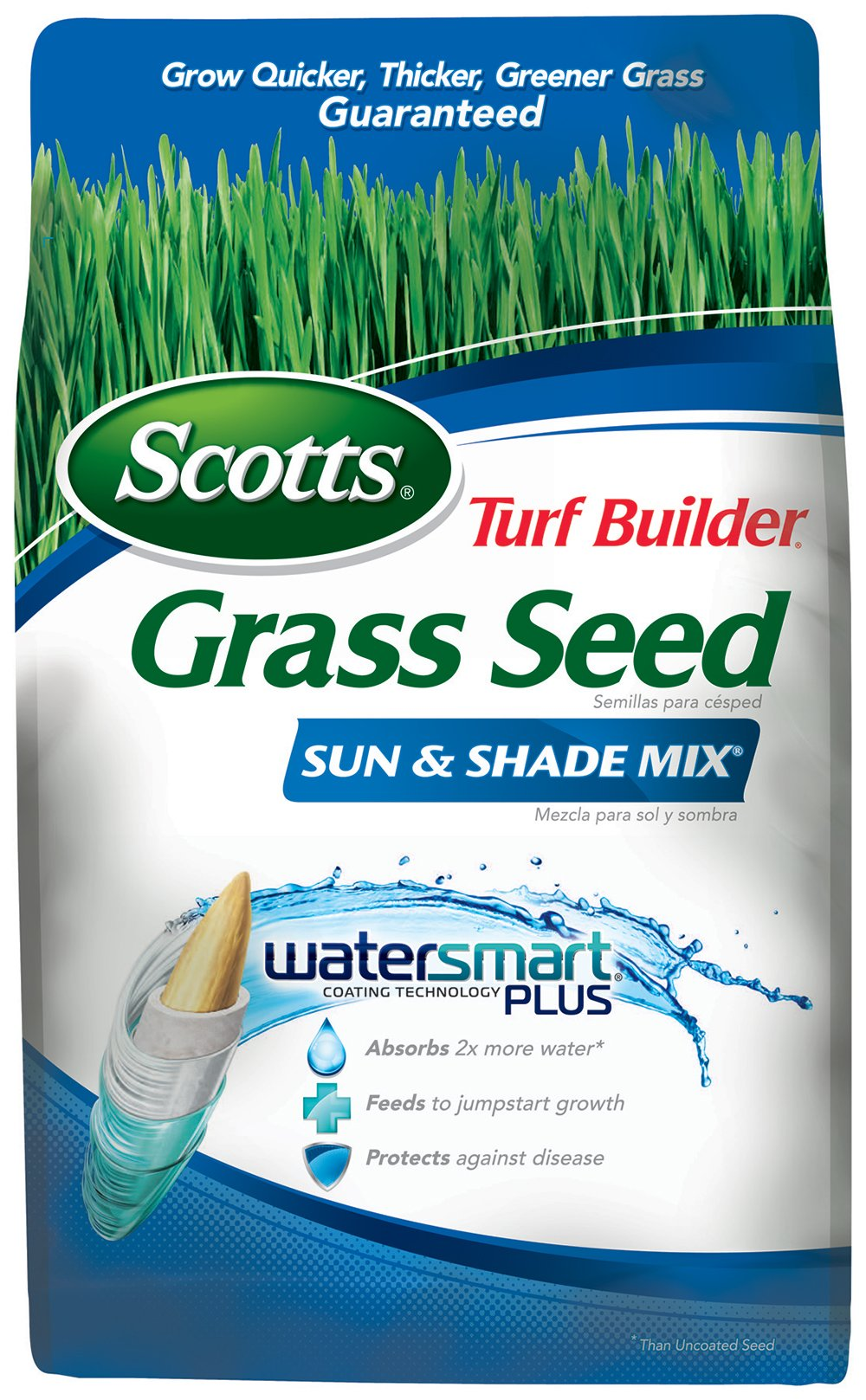 Scotts 18225 Turf Builder Sun and Shade Grass Seed Mix (6 Pack), 3 lb