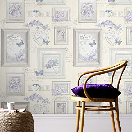 Fresco Vintage Frames Cream Multi Wallpaper