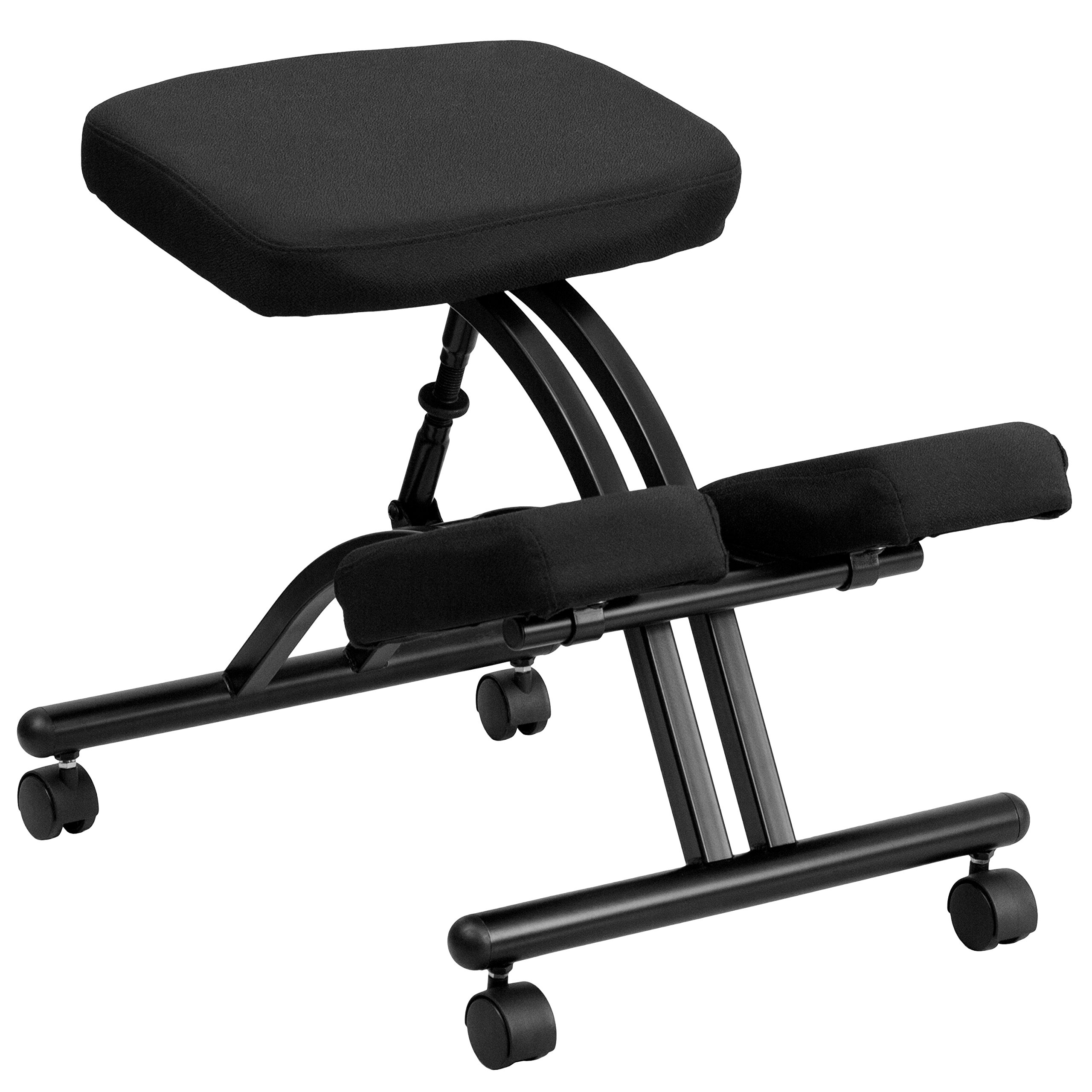 MFO Mobile Ergonomic Kneeling Chair in Black Fabric by My Friendly Office