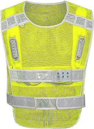 JESSIEKERVIN YY3 Chaleco reflectante Chaleco de seguridad Cinturón ...