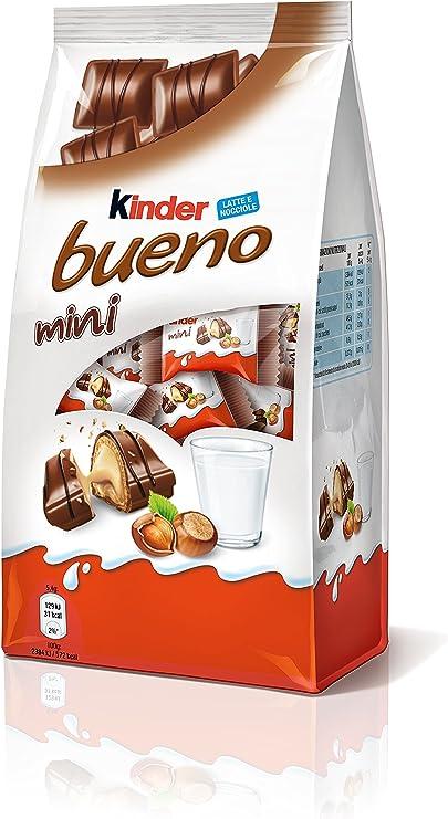 Kinder Bueno Mini - Barritas con Relleno de Leche y Avellanas ...