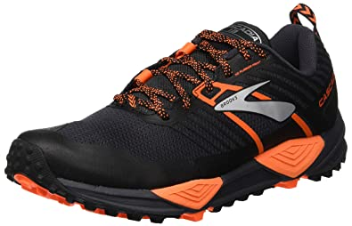 dda8ed43ee93 Brooks Men s Cascadia 13 Grey Black Orange 7.5 ...