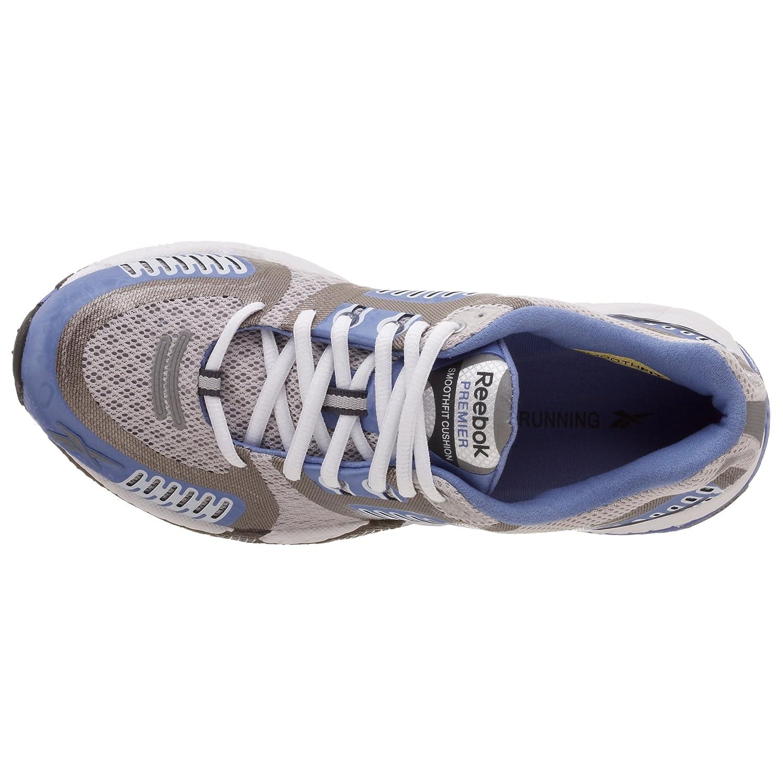 Reebok Premier Smoothfit Cushion Damen Laufschuhe Running Jogging Laufsport Schuhe Frauen SteelSilverGraphiteLilac BlueWhite Größe 40 UK 6.5 6