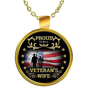 Amazon Veterans Wife Necklace