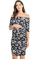 Women's Floral Off Shoulder Matenirty Dress by Hello Miz - Made in USA