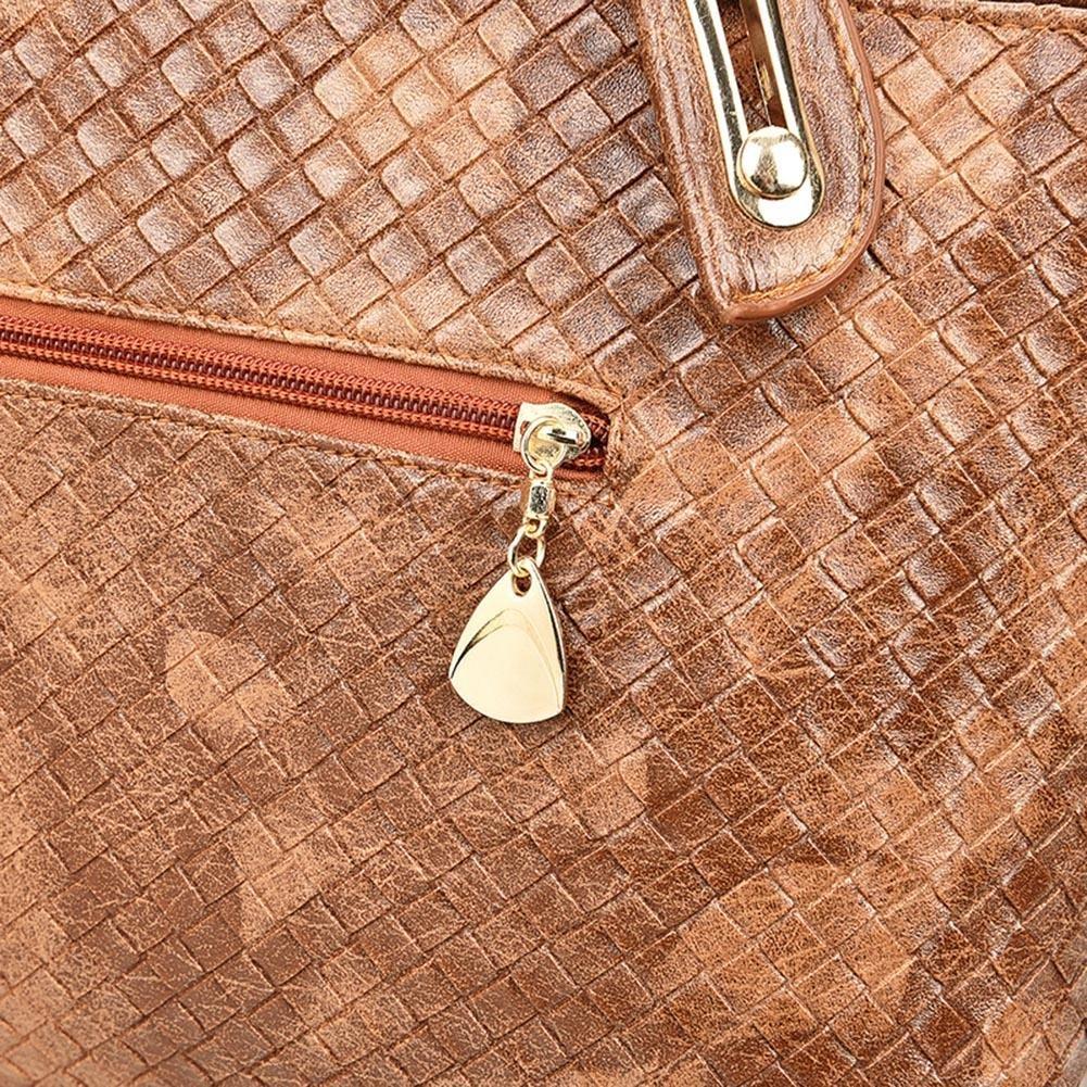 176708.01 Lot de 4 sacs /à main tendance en polyur/éthane tress/é pour femme noir