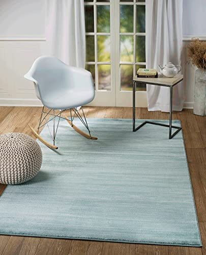 Summit 101 New Turquoise Area Rug Modern Abstract Many Sizes Available , 5 x 7 . 2