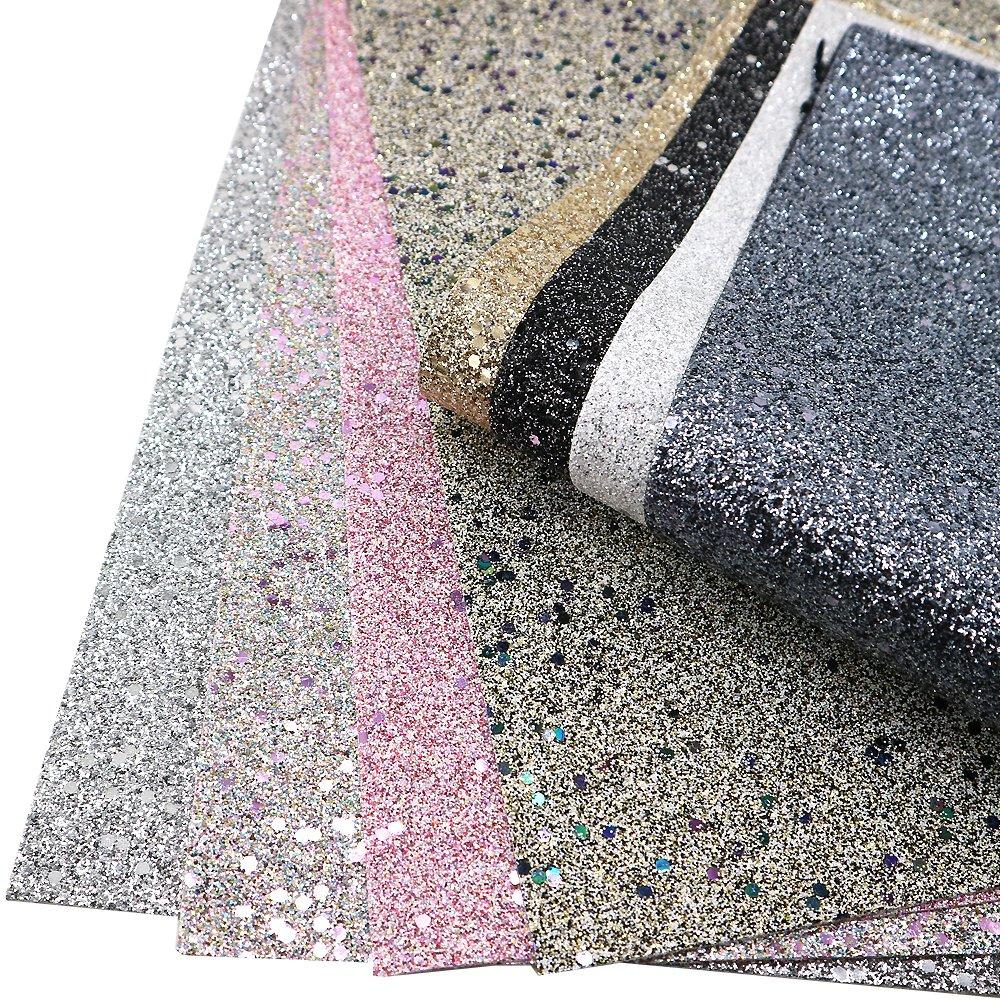 Galleon - Super Shiny Glitter Sequins Fabric 8 Pcs 8
