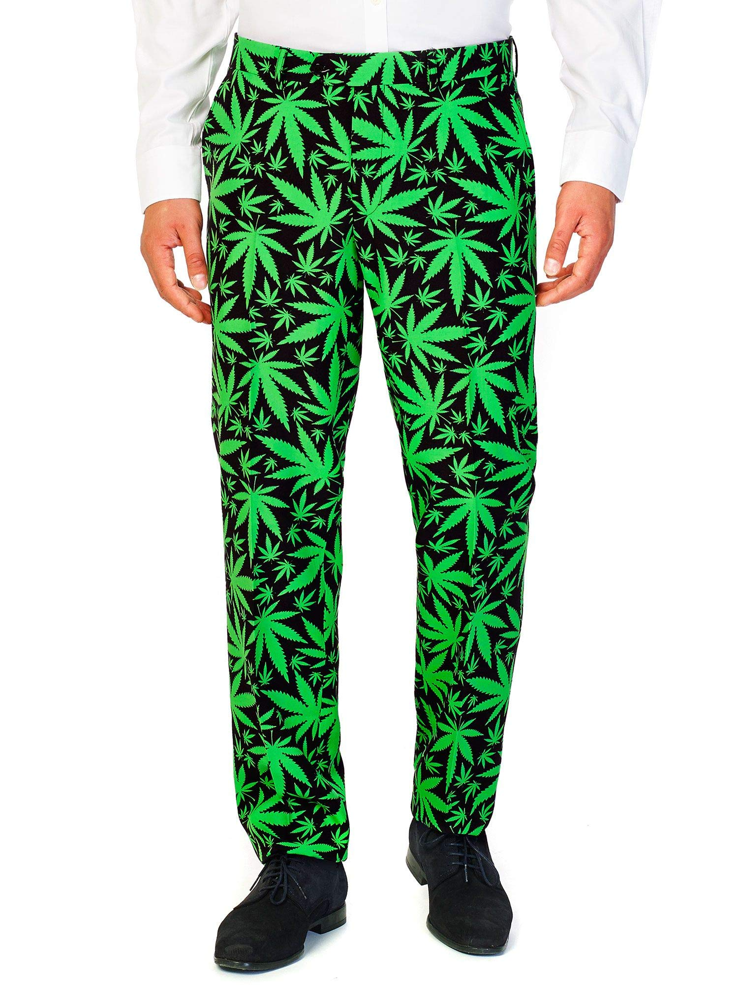 OppoSuits Men's Cannaboss Party Costume Suit, Black/Green, 52 by OppoSuits (Image #6)