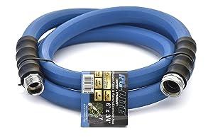 """BluBird AG-Lite Rubber Hot & Cold Water Rubber Garden Hose: Ultra-Light & Super Strong(3/4"""" x 6')- BSAL3406"""
