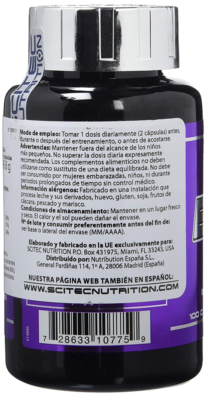 Amazon.com: BCAA 1000 – 100 Cápsulas – Scitec nutrition ...