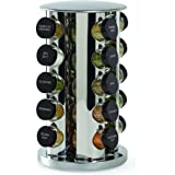 Kamenstein 20-Jar Revolving Spice Tower with Free Spice Refills for 5 Years