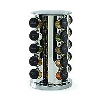 Kamenstein 30020 Revolving 20-Jar Countertop Spice Rack Tower Organizer with Free...