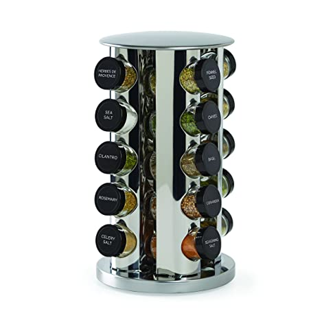 Kamenstein 20 Jar Revolving Spice Tower With Free Spice Refills For 5 Years