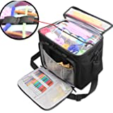 Teamoy Knitting Bag, Yarn Storage Tote Bag with Inner Divider for Yarn and Unfinished Project, High Capacity, Easy to Carry Crochet Hooks, Knitting Needles and Accessories--No Accessories Included