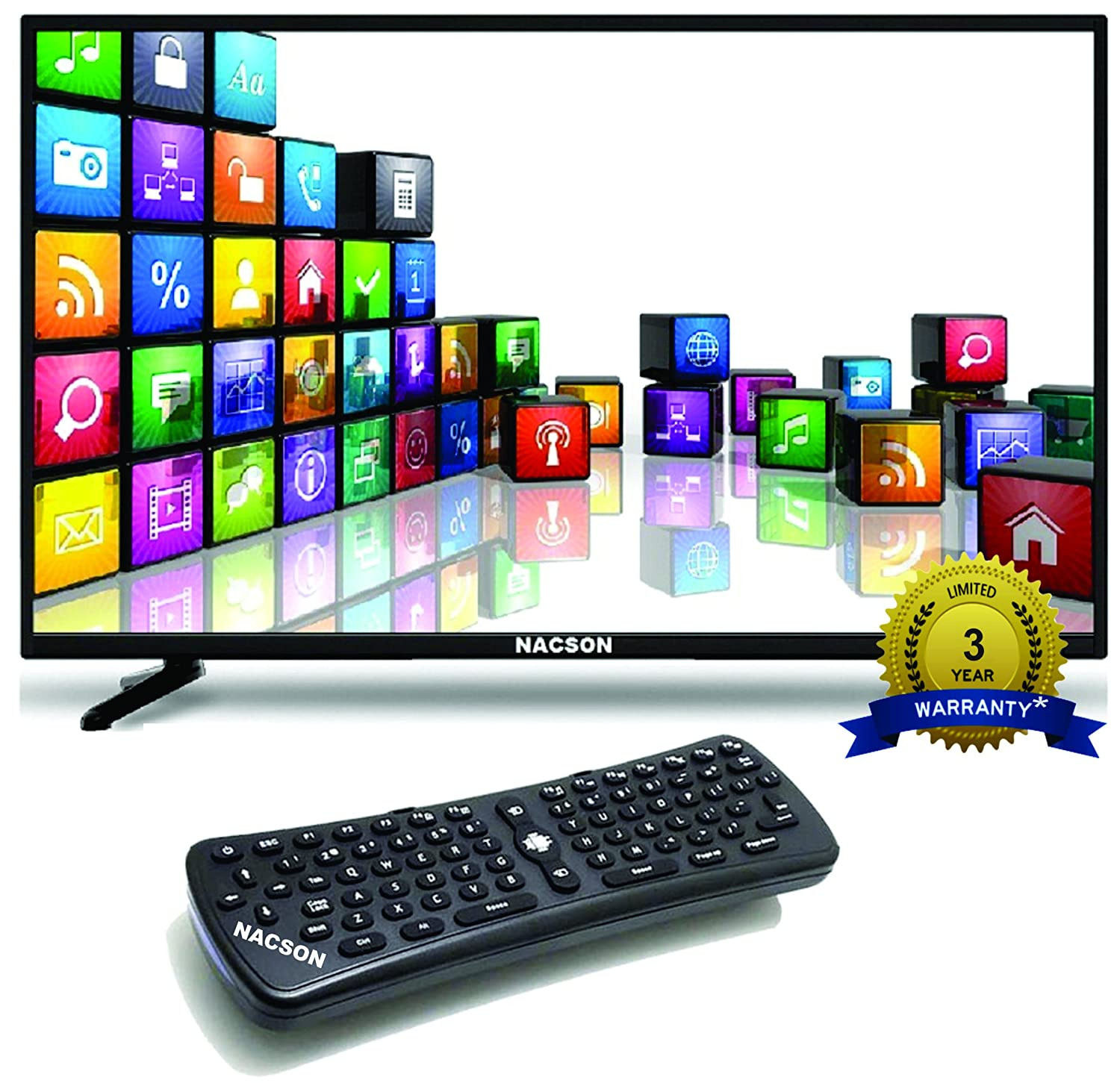 Best 40 inch LED TVs in India under 30000 - Nacson Ns4215-Smart Led Tv And Airfly Keyboard/Mouse