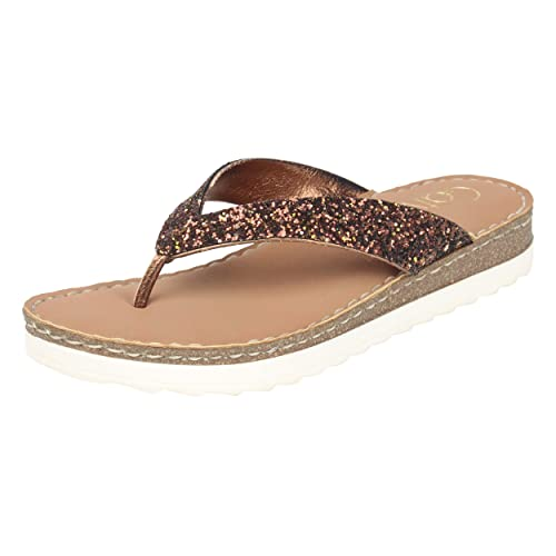 22c430114f Catwalk Bronze Slip-on Sandals: Buy Online at Low Prices in India -  Amazon.in
