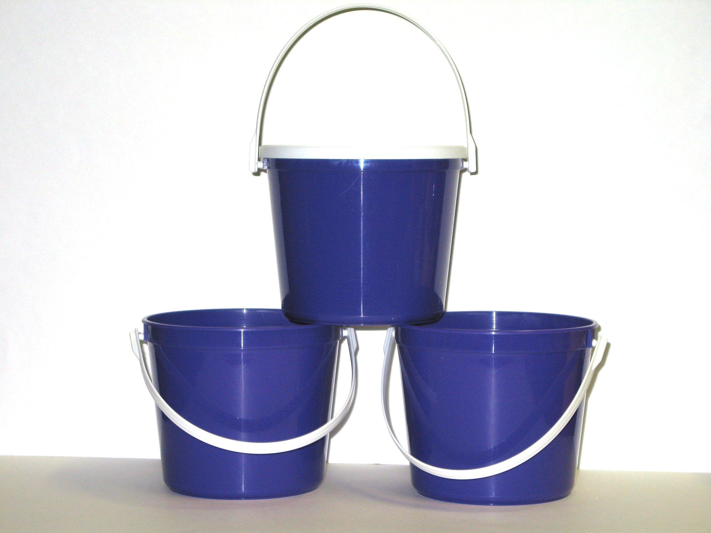 Talisman, Plastic Buckets & Lids, 80 Ounces, 3 Pack, Purple by Talisman (Image #3)