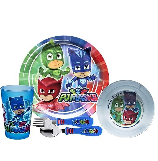 PJ Masks 3PC Dinner Set New Dining Kids Fun Food Gift Birthday