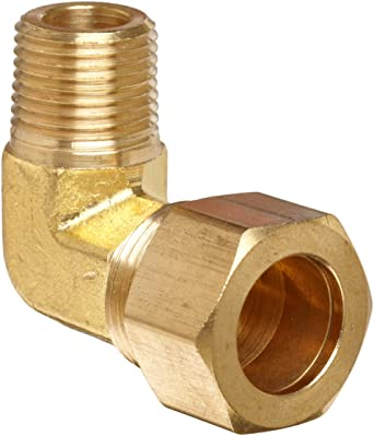 1//2-Inch OD x 1//2-Inch Female NPT Brass Compression Elbow