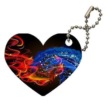 Amazon com : Fire Water Vape Bright Colored Smoke Swirls Heart
