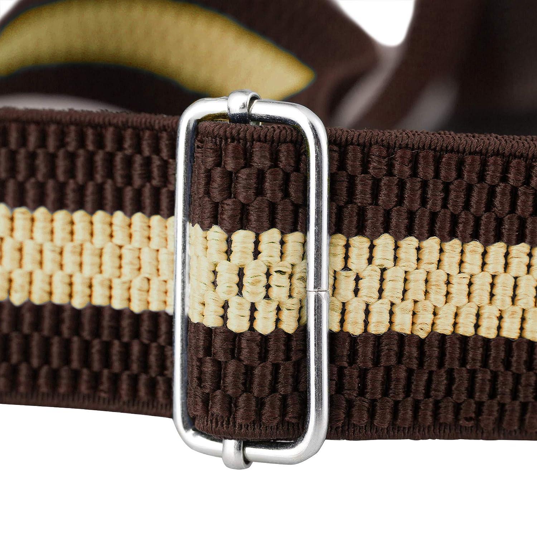 5117-Olive Buyless Fashion Mens Suspenders Elastic Adjustable 48 in Y Shape Heavy Duty 1 /¼